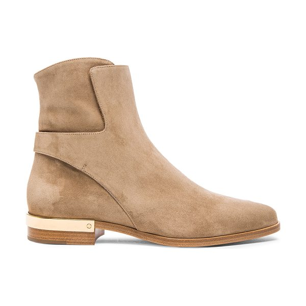 Chloe Suede boots in gray,neutrals - Suede upper with leather sole.  Made in Italy.  Shaft...