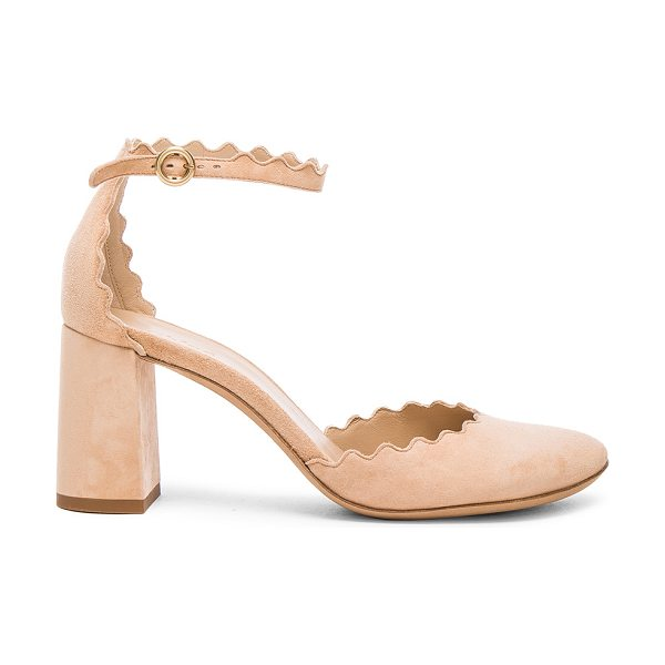 CHLOE Suede Lauren Ballerina Pumps - Suede upper with leather sole.  Made in Italy.  Approx...