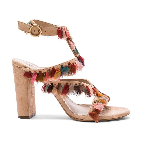 Chloe Suede Liz Sandals in reef shell