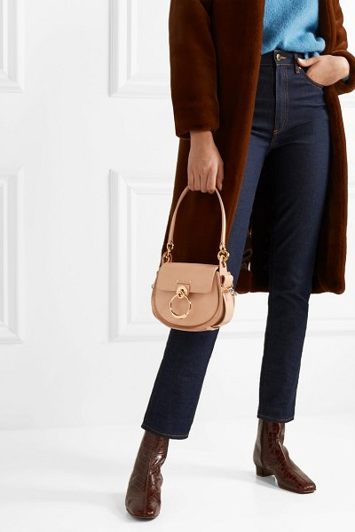 901d59176851 Chloe Tess Small Leather And Suede Shoulder Bag | Nudevotion