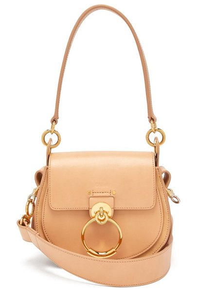 Chloe tess small leather cross body bag in nude - Chloé - Chloé's accessories offering is an extension of...
