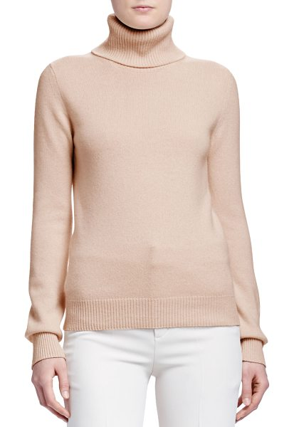 Chloe Turtleneck cashmere sweater in camel - Chloe cashmere sweater. Turtleneck. Long sleeves. Ribbed...