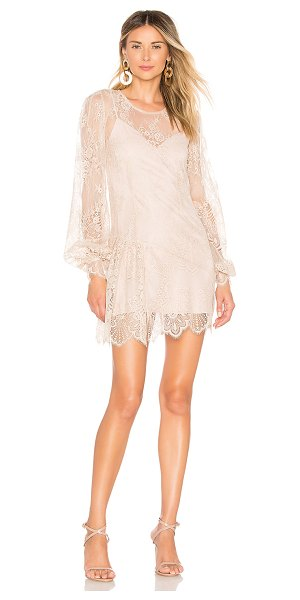 Chrissy Teigen x revolve phulay sunset dress in champagne