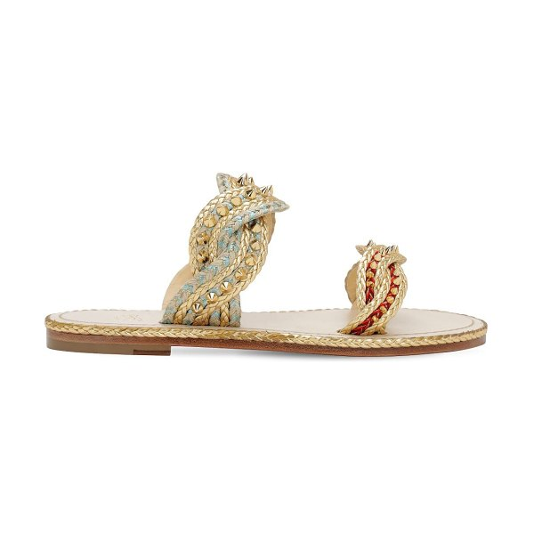 Christian Louboutin 10mm normandie rope sandals in gold