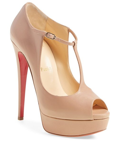 CHRISTIAN LOUBOUTIN alta poppins mary jane platform pump - A daring take on a classic mary jane pump elevates your...