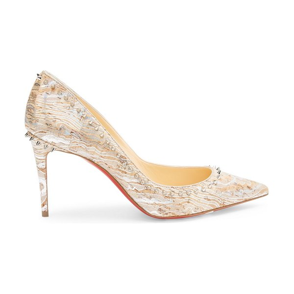 Christian Louboutin anjalina spiked cork pumps in beige
