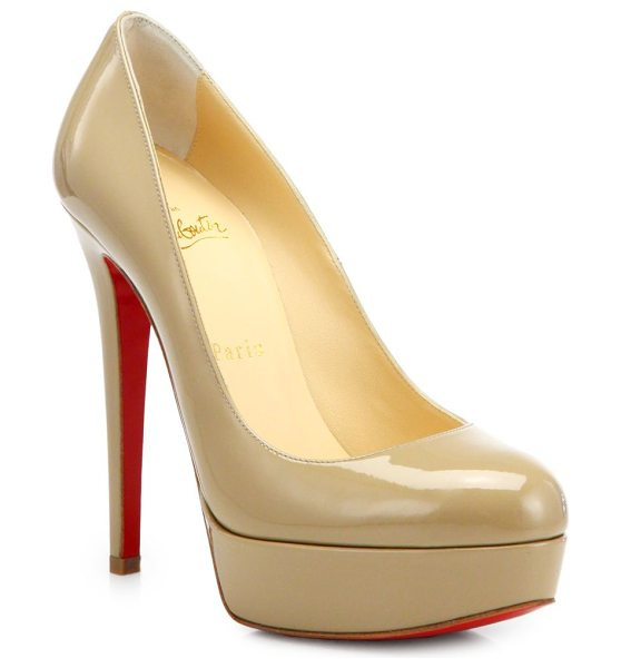 CHRISTIAN LOUBOUTIN bianca patent leather platform pumps - Glossy patent leather sculpted into a seductive pair of...