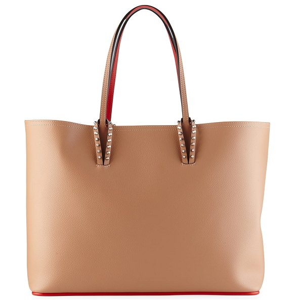 Christian Louboutin Cabata East-West Leather Tote Bag in nude
