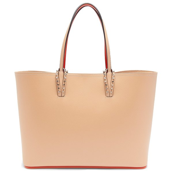 Christian Louboutin cabata grained leather tote bag in nude