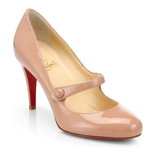 CHRISTIAN LOUBOUTIN charlene 85 patent leather mary jane pumps - Fashioned in polished patent leather with a...