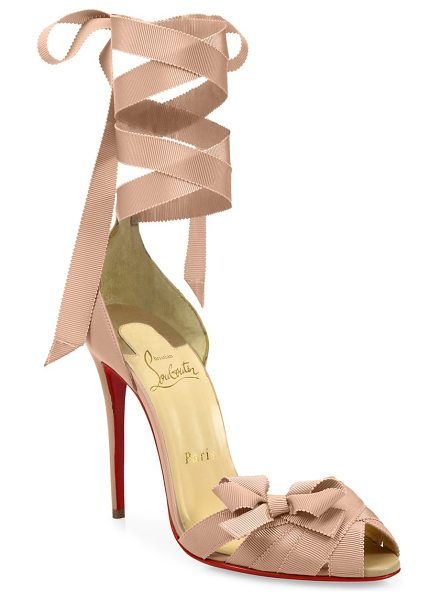 Christian Louboutin christeriva ankle-wrap d'orsay pumps in nude - EXCLUSIVELY AT SAKS FIFTH AVENUE.D'Orsay peep-toe pumps...