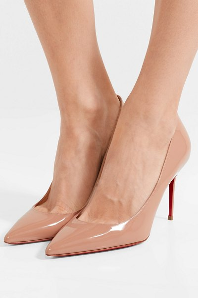 Christian Louboutin décolleté 554 85 patent-leather pumps in beige -  There s nothing more classic 5f4402a7a