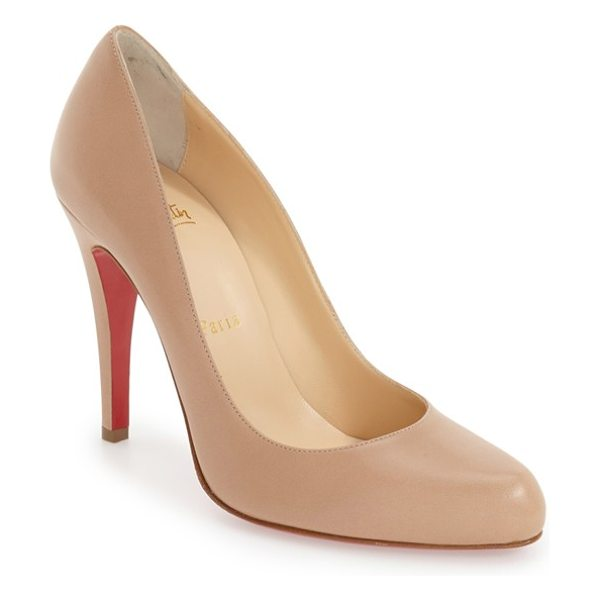 Christian Louboutin decollete 868 pump in nude leather - Delectable leather complements the sleek curves of a...