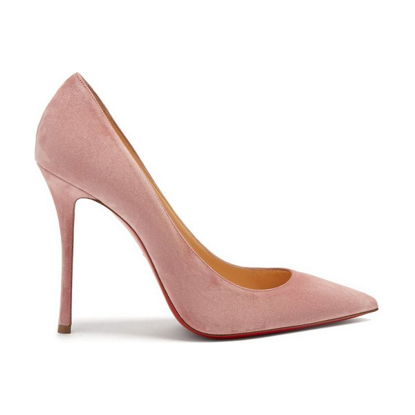 Christian Louboutin Decoltish 100 Suede Pumps in pink - Christian Louboutin - The name of Christian Louboutin's...