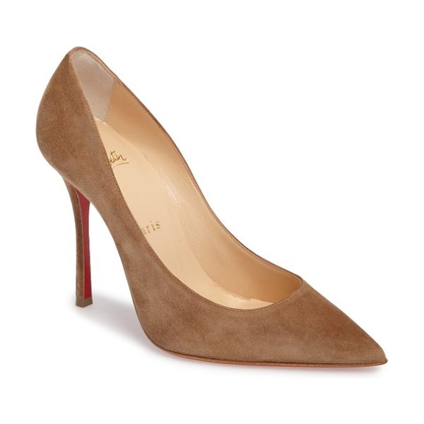CHRISTIAN LOUBOUTIN decoltish pointy toe pump - A go-to style that's anything but basic, this pointy-toe...