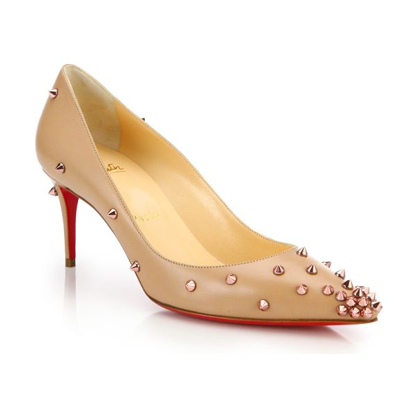 CHRISTIAN LOUBOUTIN Degraspike studded leather pumps - Spiked studs dot these ladylike pumps with a dose of...