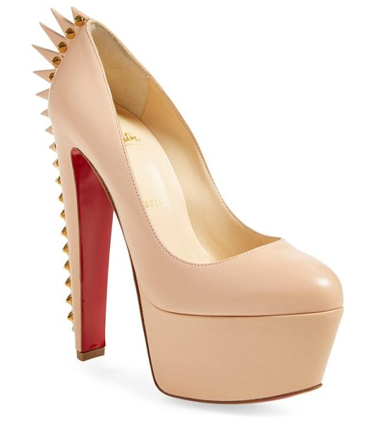 CHRISTIAN LOUBOUTIN electropump spiked platform pump - Wickedly pointy spikes march down the heel of a soaring...