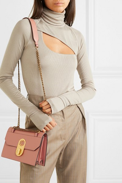 Christian Louboutin elisa small leather shoulder bag in pink