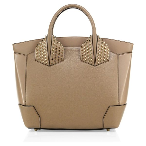 Christian Louboutin eloise large studded leather tote in dune - Structured leather tote with signature spiked studs....