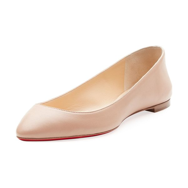 new style 77043 9cd99 Christian Louboutin Eloise Napa Leather Red Sole Flat ...