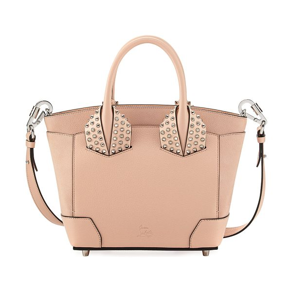 Christian Louboutin Eloise Small Leather Spike Tote Bag in f009poudre - Christian Louboutin calf leather tote bag. Spike studded...