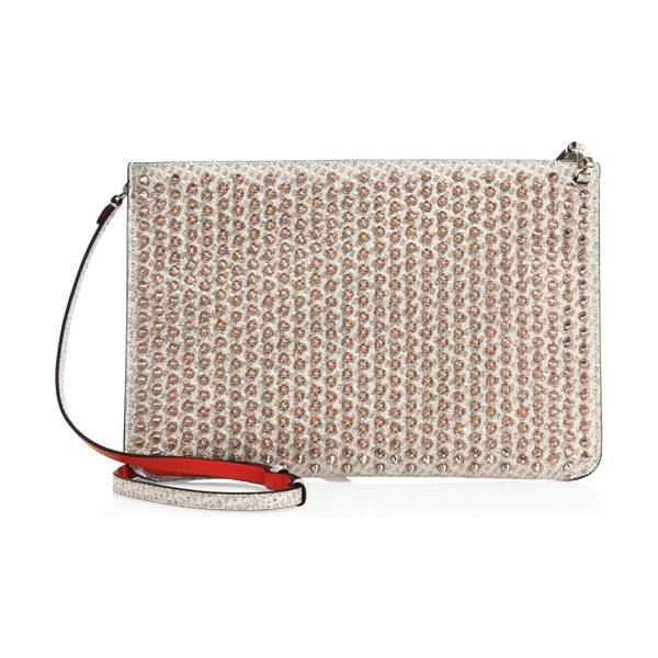 Christian Louboutin embellished clutch in nude