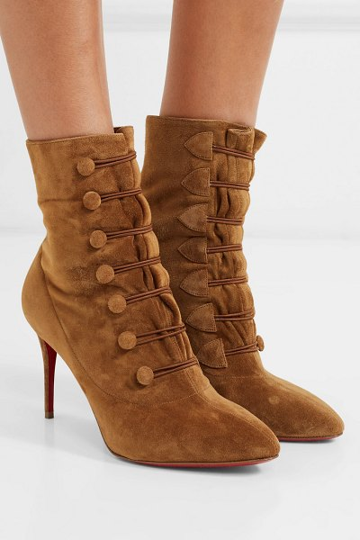 Christian Louboutin french tutu 85 suede ankle boots in tan