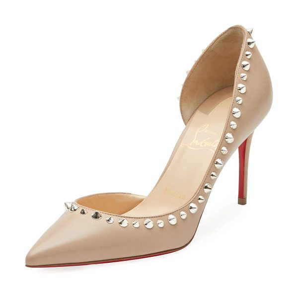 Christian Louboutin Irishell Studded Red Sole Pumps in nude/gold