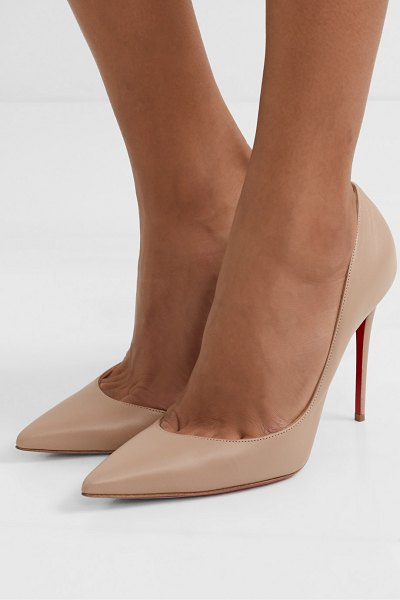 Christian Louboutin iriza 100 leather pumps in beige