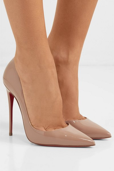 Christian Louboutin iriza 100 patent-leather pumps in neutral