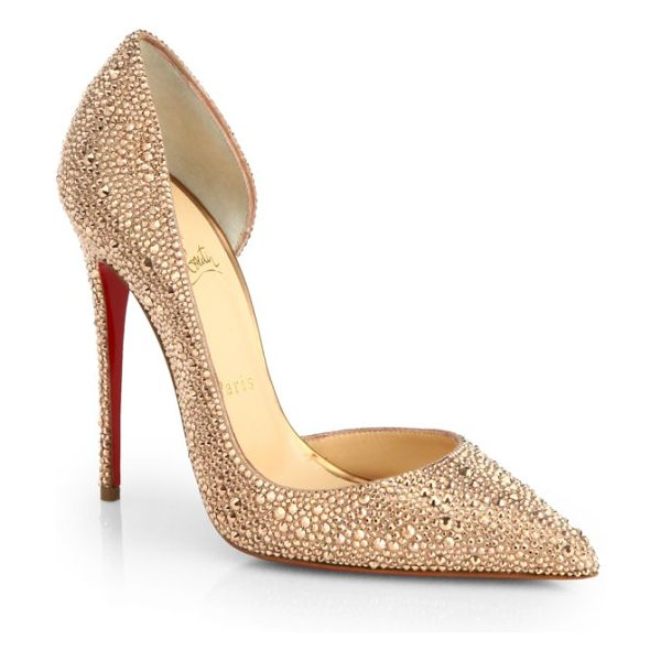CHRISTIAN LOUBOUTIN Iriza strass crystal pumps - Glimmering crystals transform a beautifully cut pump in...