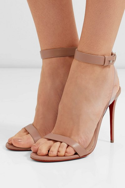 Christian Louboutin jonatina 100 pvc-trimmed leather sandals in beige