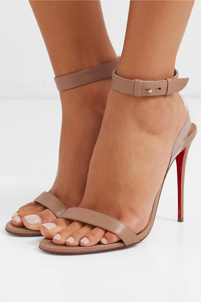 Christian Louboutin jonatina pvc-trimmed leather sandals in neutral - Christian Louboutin's 'Jonatina' sandals are frequently...