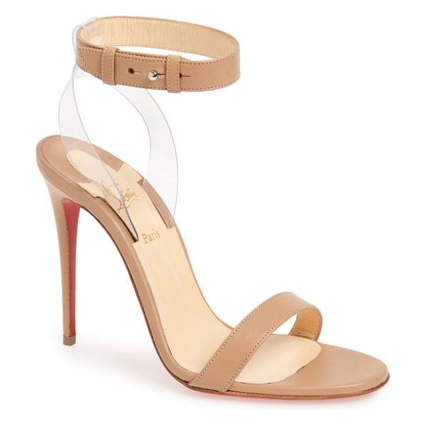 Christian Louboutin jonatina sandal in nude leather - A svelte ankle strap appears to float above a gorgeous...