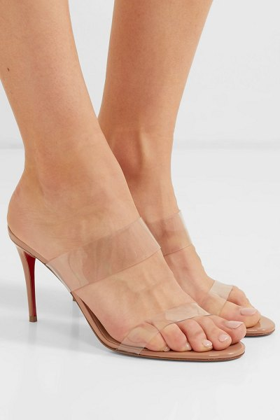 Christian Louboutin just nothing 85 pvc and patent-leather mules in neutral
