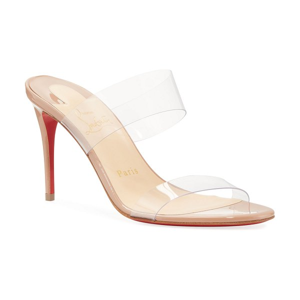 Christian Louboutin Just Nothing Illusion Red Sole Sandals in nude