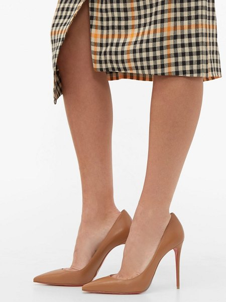 Christian Louboutin kate 100 leather pumps in tan