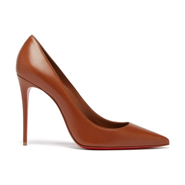 Christian Louboutin kate 100 leather pumps in mid nude
