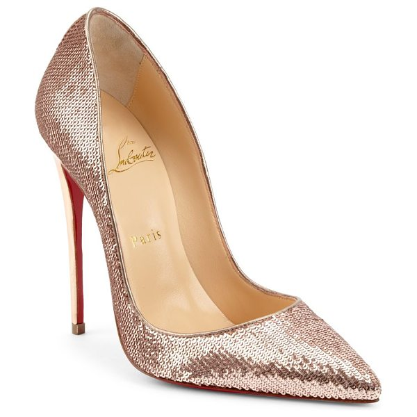 CHRISTIAN LOUBOUTIN kate pumps - Pumps featuring allover sequin details. Stiletto heel,...