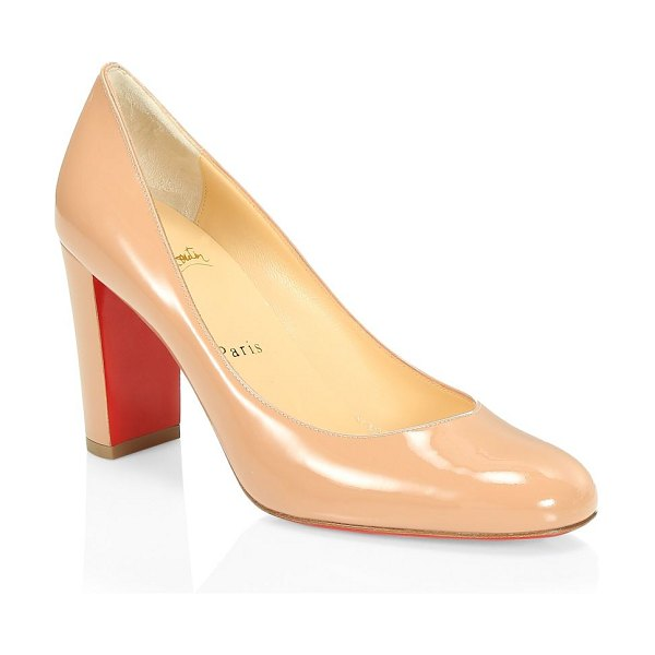 Christian Louboutin lady gena patent leather pumps in nude