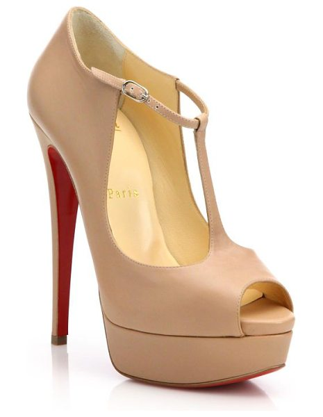 CHRISTIAN LOUBOUTIN leather peep toe platform pumps - Sky-high platform pumps in supple leather. Covered...