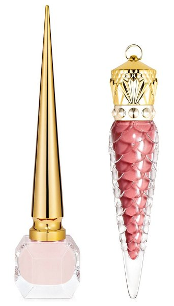Christian Louboutin loubivalentine's coffret nude two piece lips & nails set in nude