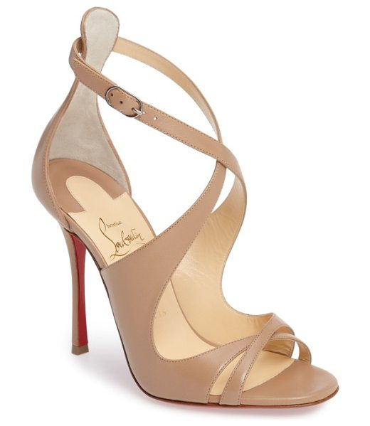 Christian Louboutin malefissima sandal in nude leather - Alluring leather straps that curve this way and that...