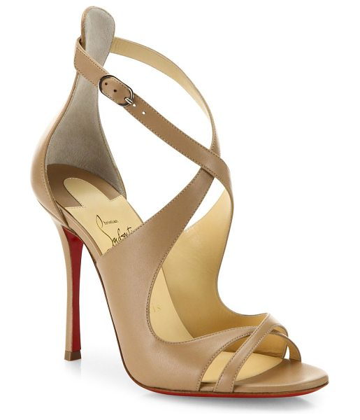 Christian Louboutin malefissima leather sandals in nude