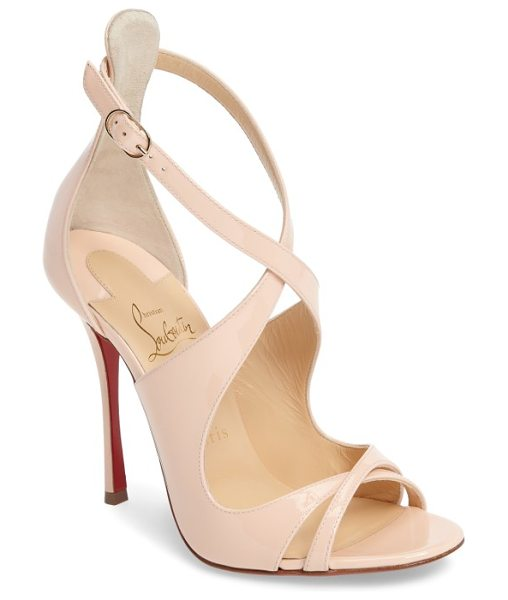 Christian Louboutin malefissima sandal in poudre patent - Alluring leather straps curve this way and that on an...