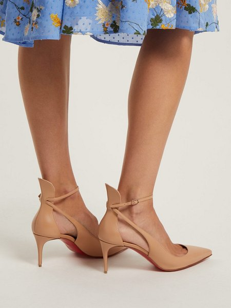 Christian Louboutin Mascara 70 Leather Pumps in nude - Christian Louboutin - It's the sleek pointed toe and...