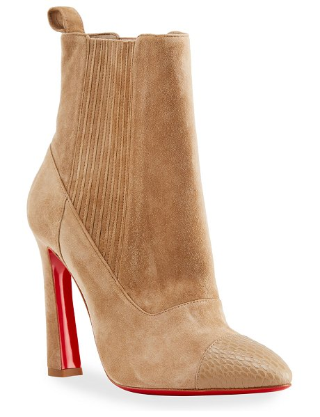 Christian Louboutin Me In The 90s Red Sole Booties in champagne