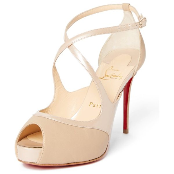 21bece9c0af Christian Louboutin mira bella sandal in nude - Alluring leather straps  curve this way and that