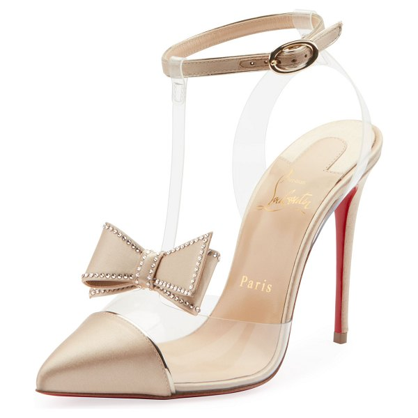 Christian Louboutin Naked Bow Red Sole Pumps in nude