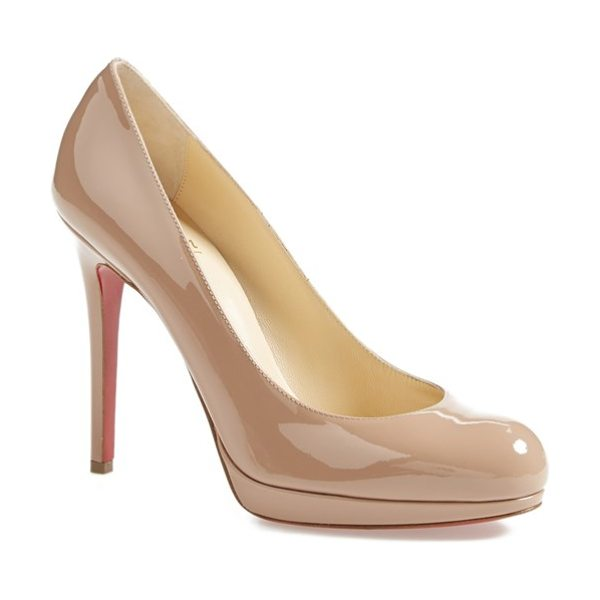 Christian Louboutin 'new simple' pump in nude - The New Simple stiletto takes its cues from Christian...